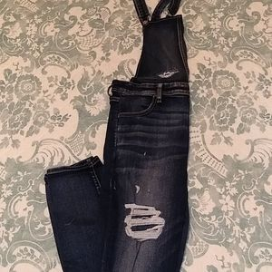 American Eagle Outfitters Jeans - AE destroyed stretch Overalls sz 14 long